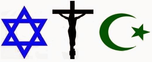 Resultado de imagen de Judaísmo, cristianismo, islam