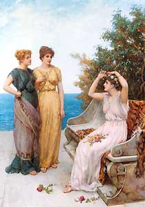 Image result for psyche and sisters in cupid's palace pic