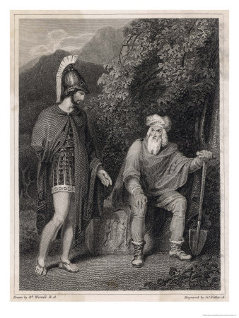 laertes and odysseus relationship with athena
