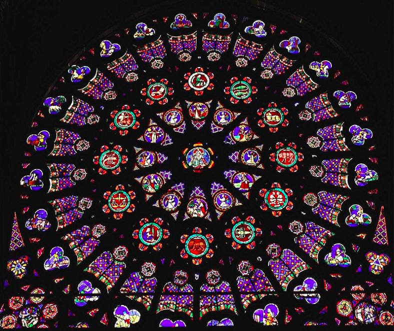 After Abbot Suger Included The Rose Window In Saint Denis Around 1140 It Became An Established Feature Gothic Architecture Specifically Facade