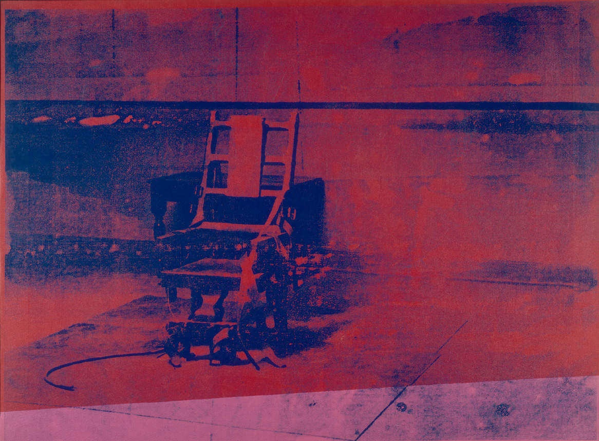 Electric chair andy warhol - The Big Electric Chair Painting Was One Of Many Of His Paintings In That Series