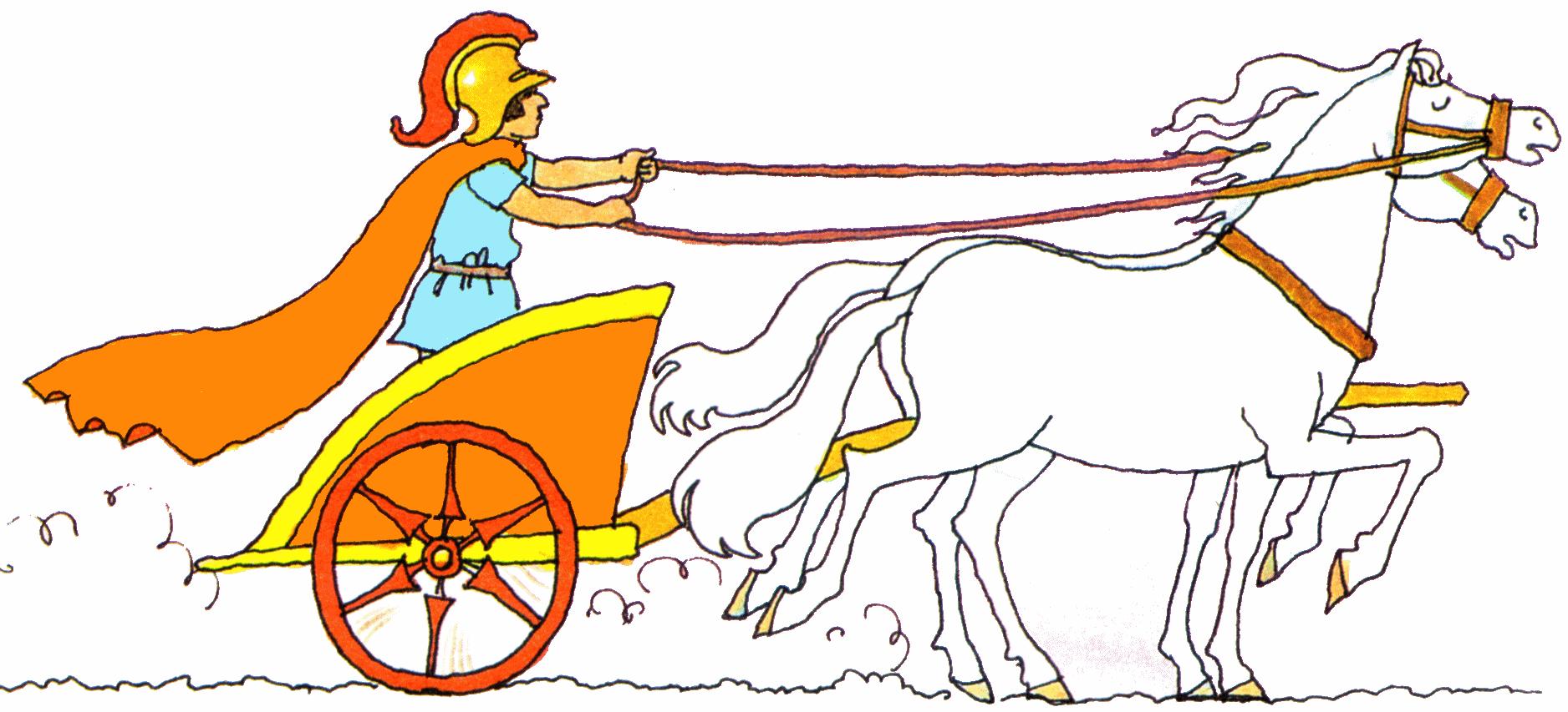 Картинка колесница раскраска