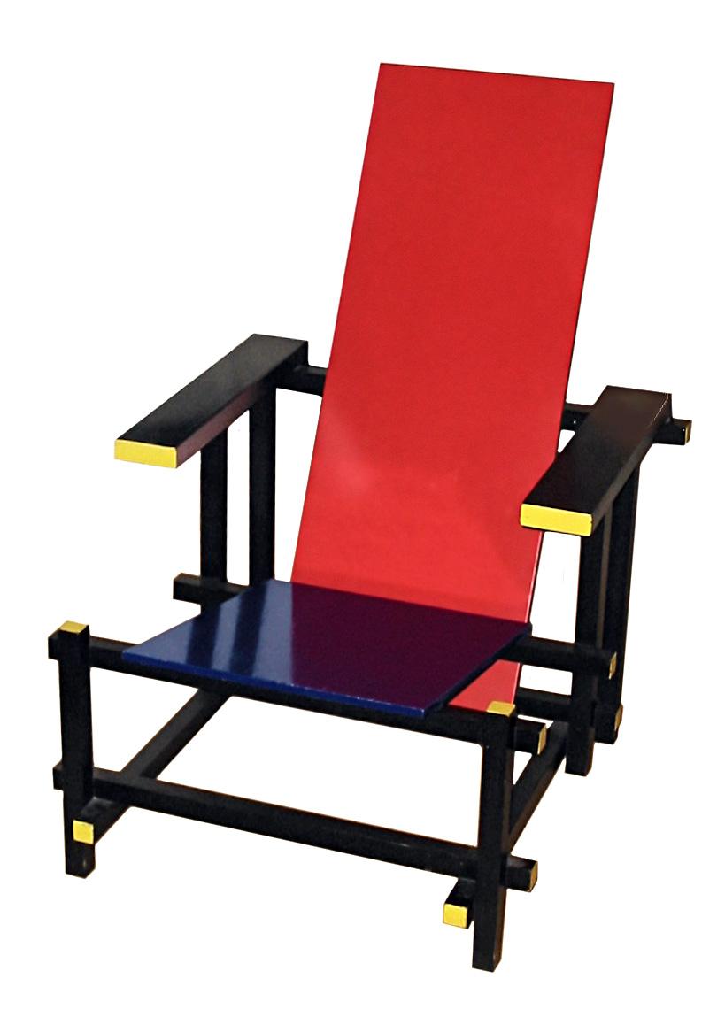 Design gechichte on emaze - Rot blauer stuhl ...
