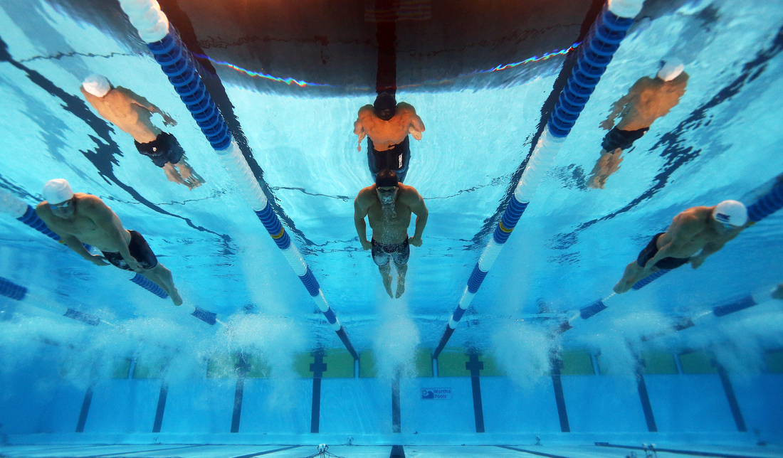 Olympic swimming underwater