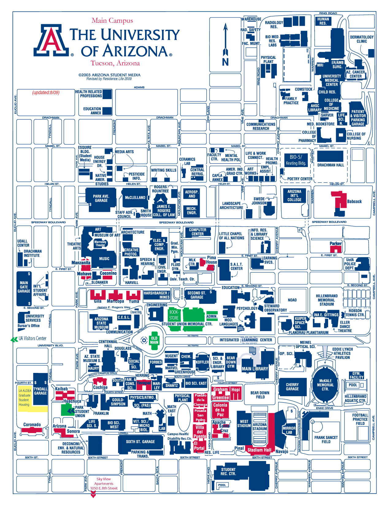 Campus Map U Of A | Park Map