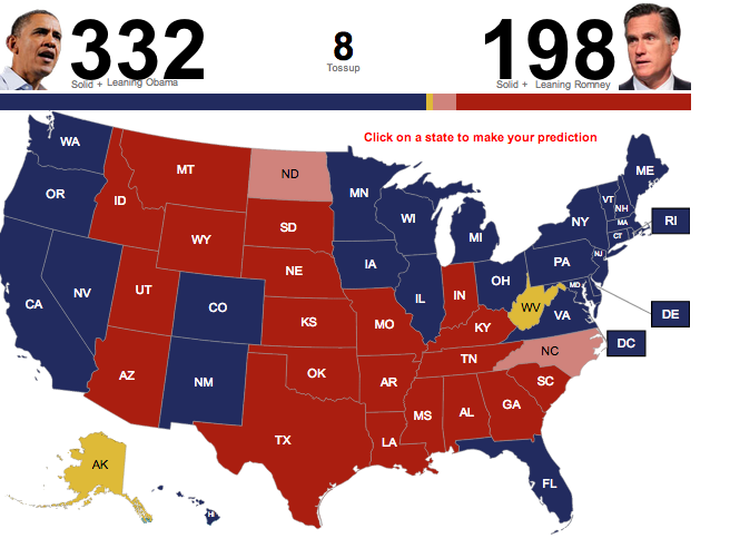 Obama Electoral Map My Blog Us Election 2012 Polls Map