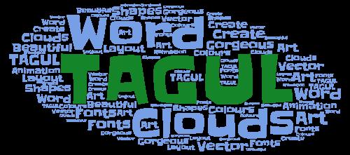 nube de palabras word art
