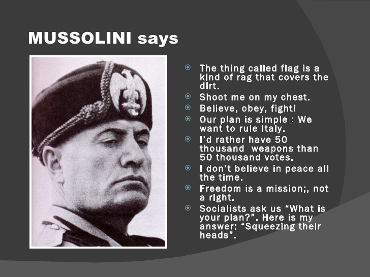 an introduction to mussolini and fascism Introduction | types of fascism  or that expresses specific admiration for benito mussolini and italian fascism, again particularly in europe and south america.