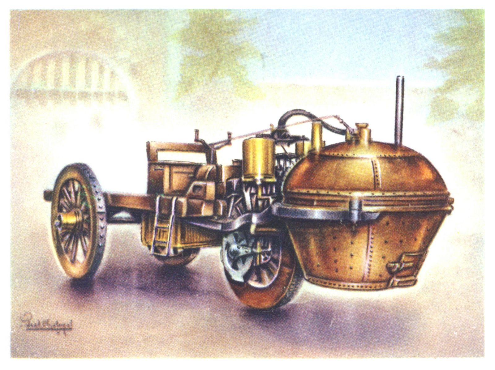 картинка первый автомобиль с паровым двигателем блок тюнер строится