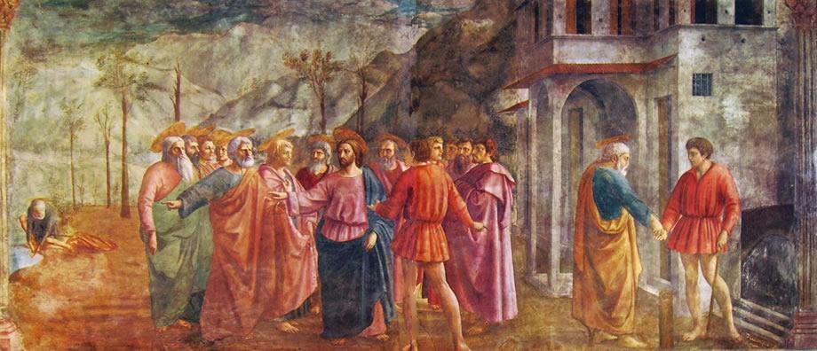Resultado de imagen de El pago del tributo (Masaccio)