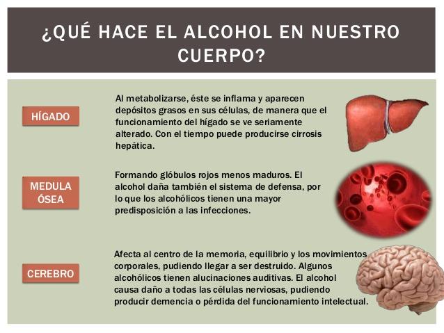 Que danos provoca el alcohol en el cuerpo