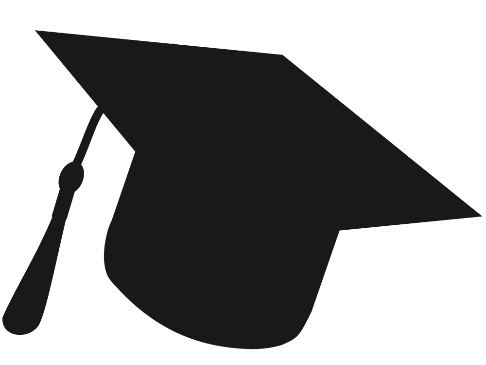 graduate silhouette clipart - 1000×750