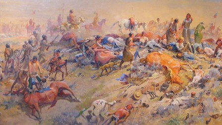 the battle of lieutenant george custer against the sioux indians It was called custer's last stand but it could easily have been reno's retreat almost 150 years later, there is still controversy about whether maj marcus reno betrayed gen george custer during the battle at the little bighorn against sioux and cheyenne with a retreat or flat-out cowardice.
