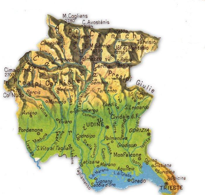 Cartina Friuli Venezia Giulia Fiumi.Friuli Venezia Giulia By Matilde Soliani On Emaze
