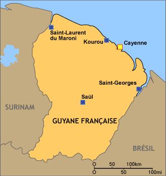 Villes Guyane Carte