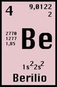 el berilio es un elemento cuyo estado natural es slido el smbolo qumico del berilio es be y su nmero atmico es el 4 descubre las propiedades y