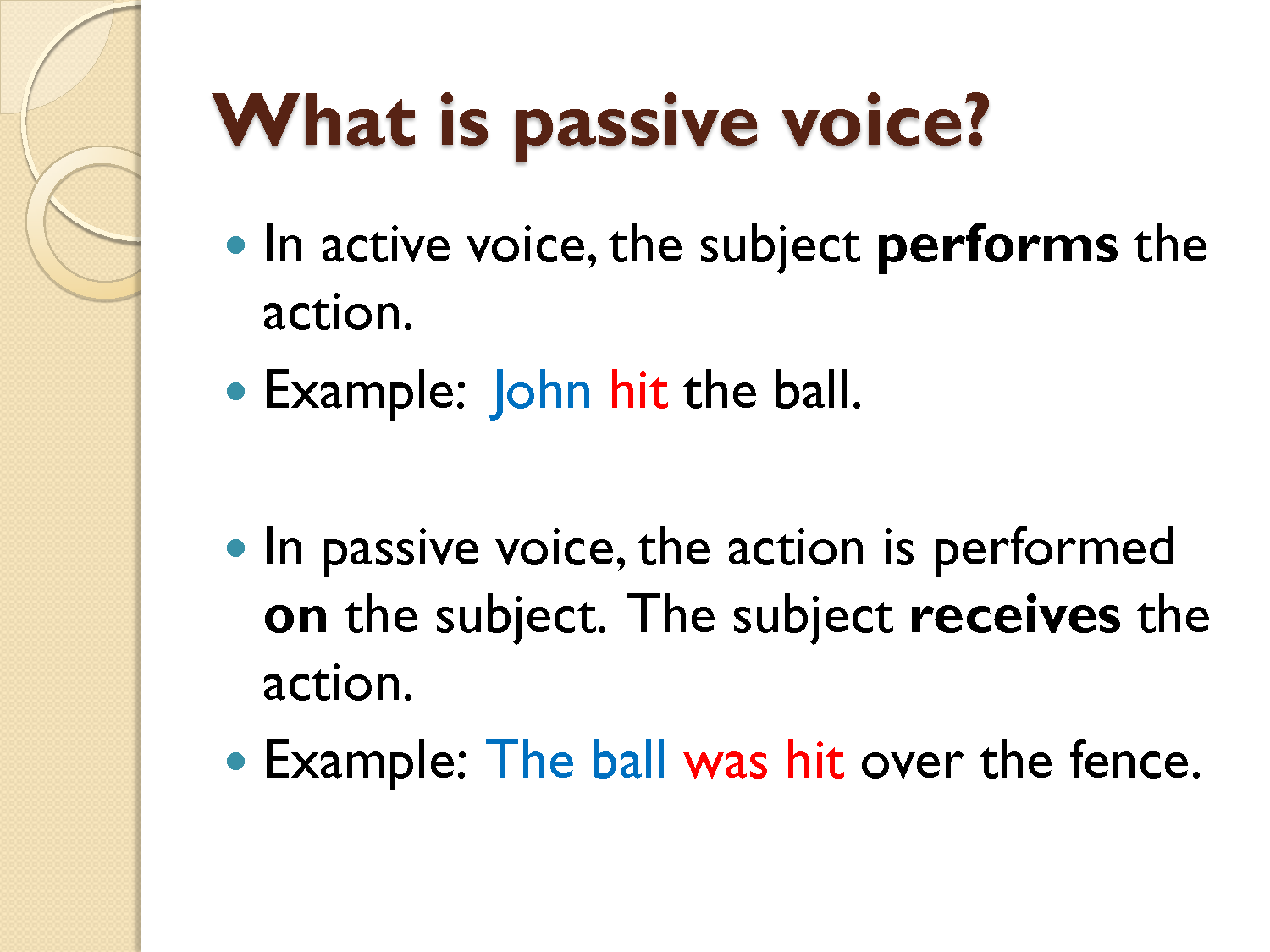 lesson plan passive voice Esl lesson plans for teachers grammar: passive voice check out our selection of worksheets filed under grammar: passive voice use the search filters on the.