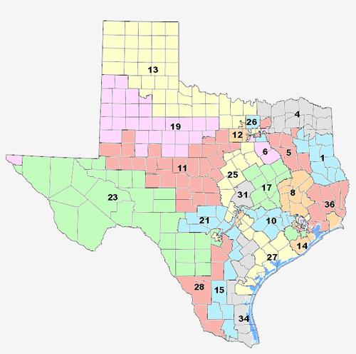 Texas Representatives Map My Blog - Us representative map