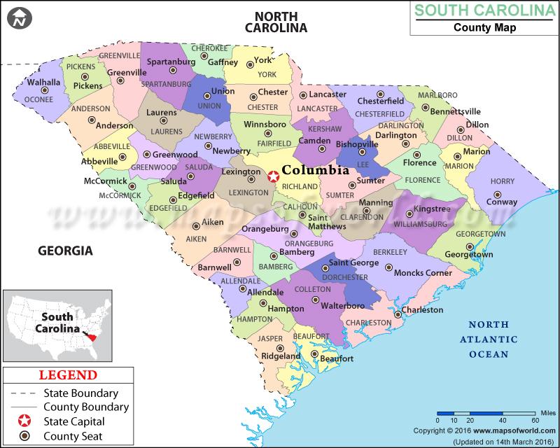 North And South Carolina On Emaze - Carolina map us
