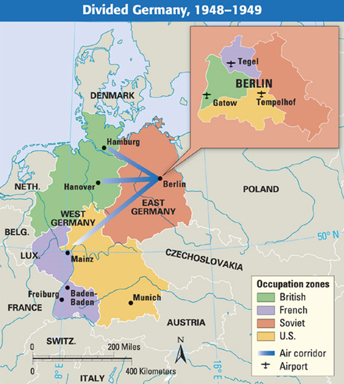 berlin was split up just like the nation of germany democratic west berlin and communist east berlin