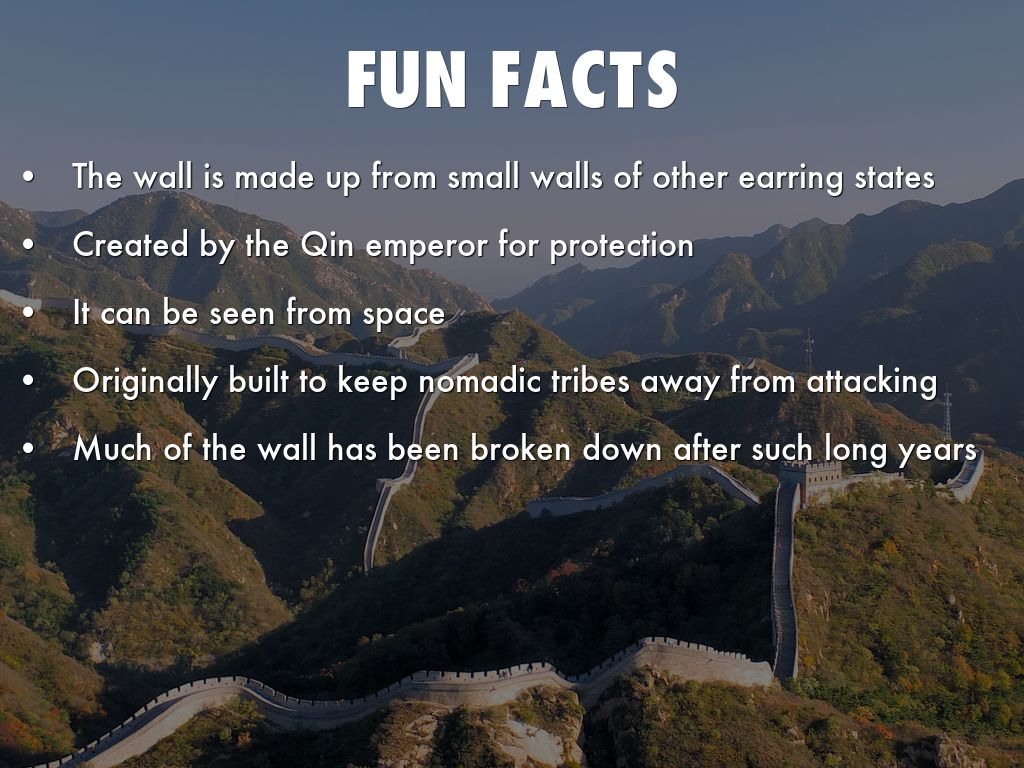 Wall Of China Facts For Kids