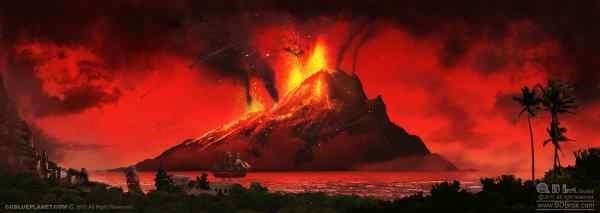 79 AD Pompeii Mount Vesuvius Erupting