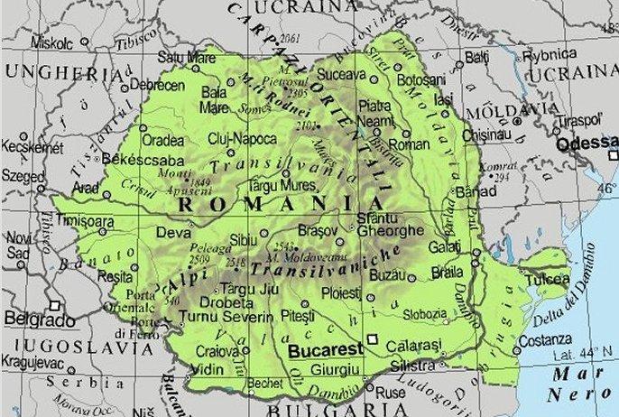 Cartina Geografica Politica Della Romania.Online Learning