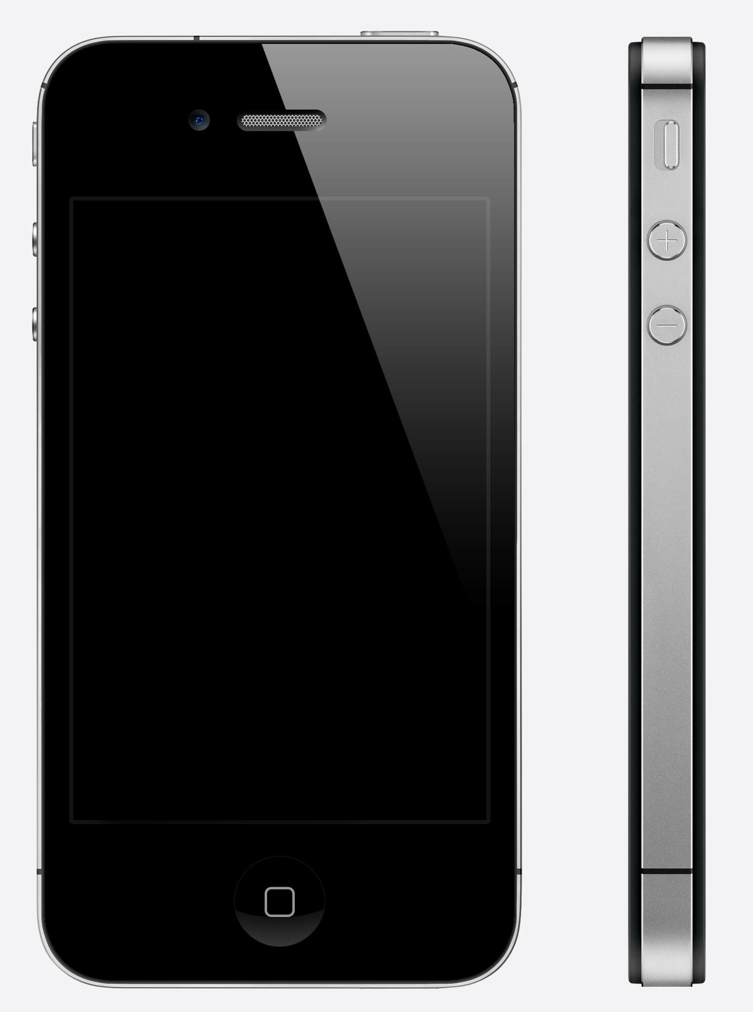 У айфона черный экран фото