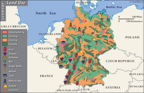 Presentation Name On Emaze - Germany map natural resources