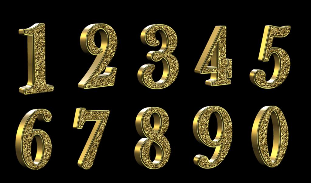Цифры фотошоп для открыток