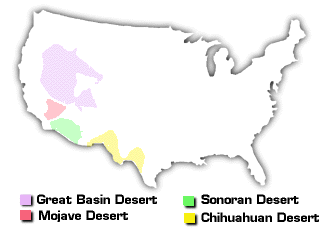 The Great Basin Desert - Us map mojave desert