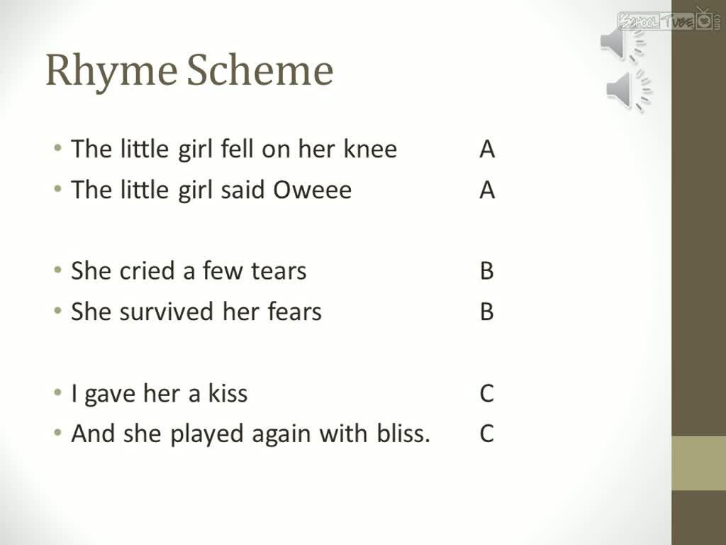 Teaching Rhyme Scheme - Lawteched