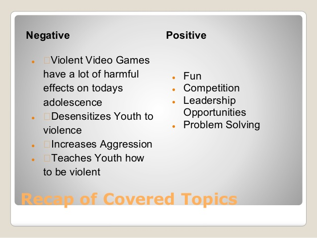videogames and violence essay Free example of persuasive sample essay games and violence.