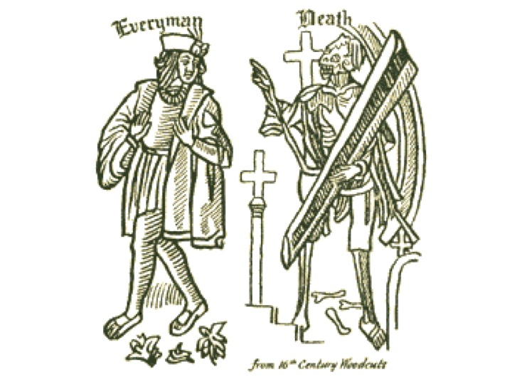 analysis everyman medieval morality play and allegory Analysis fifteenth century english morality play everyman was first published in 1508 it relates through allegory the tale of a dying everyman and the.