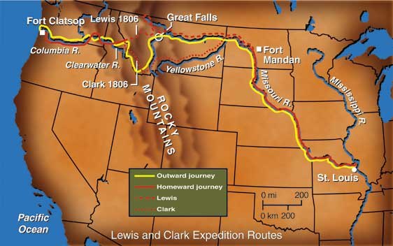 map of lewis and clark expedition citylondonhotel