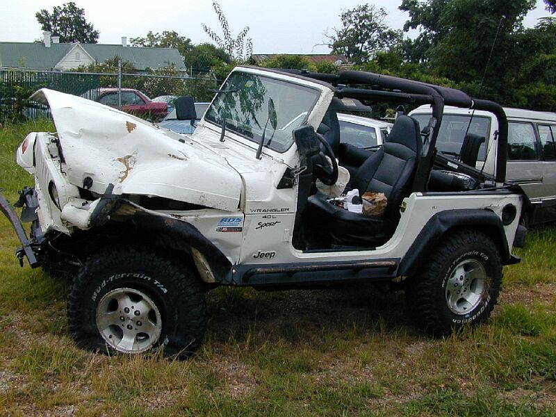 Image Gallery Wrecked Jeep