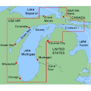 The Great Lakes - Lake michigan us map