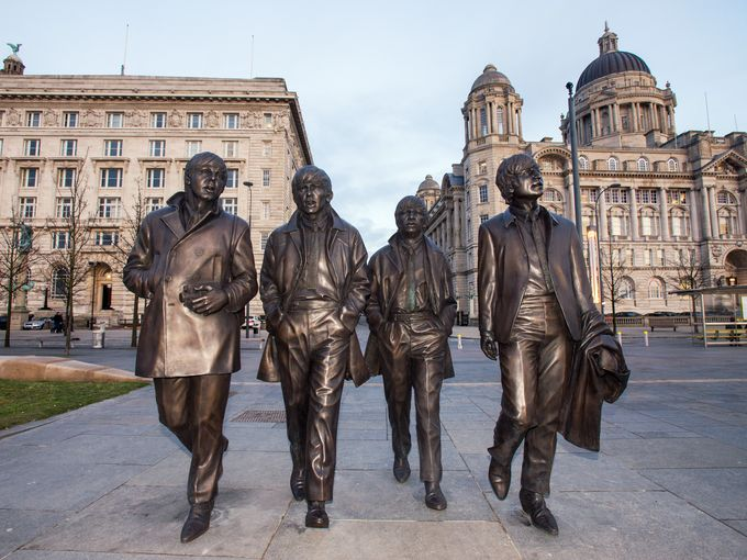Image result for statue of the beatles in liverpool
