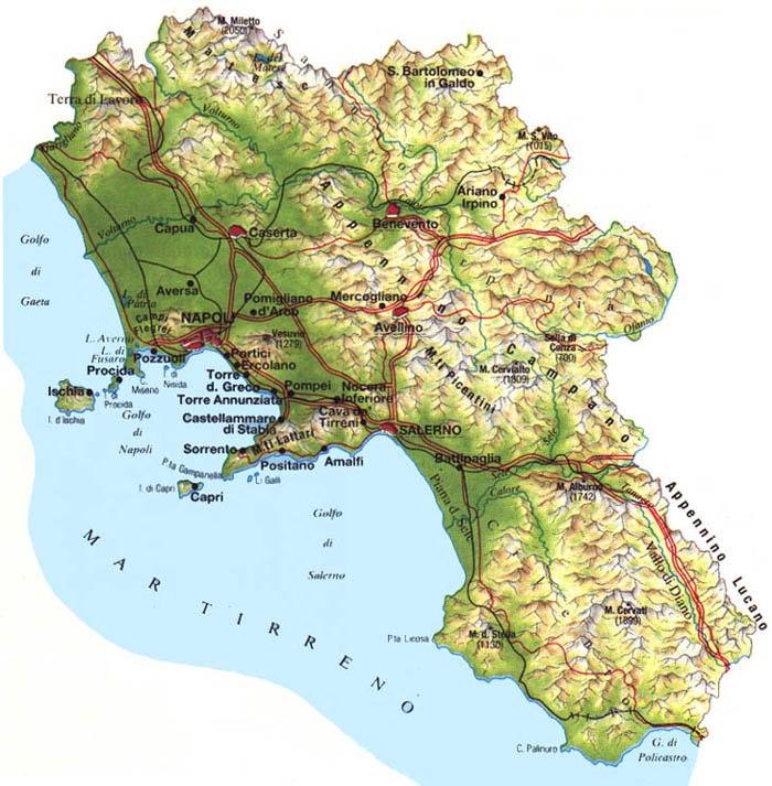 Cartina Fiumi Campania.La Campania Confina By El Santos On Emaze