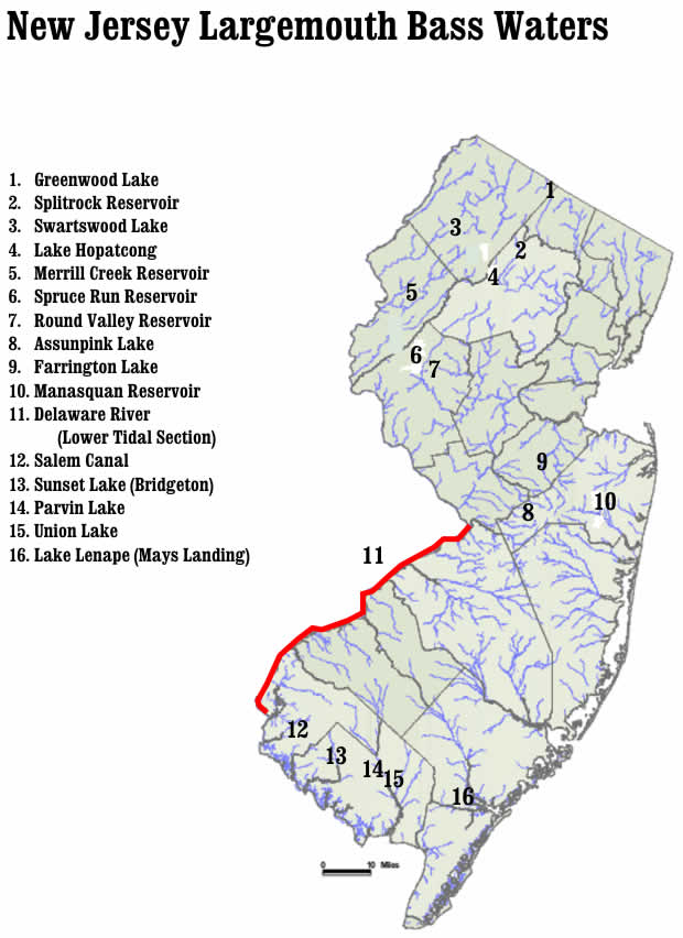 union lake nj map Largemouth union lake nj map