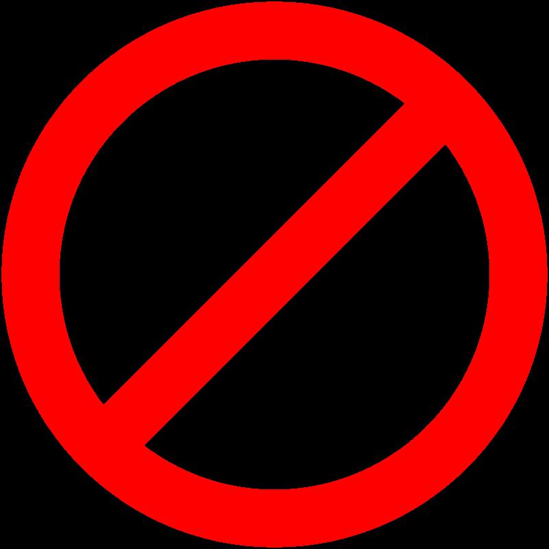No homework sign