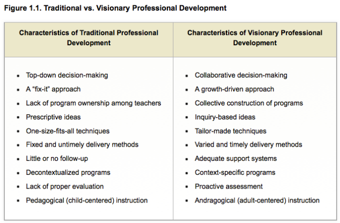 Teachers individual plan for professional development sample.