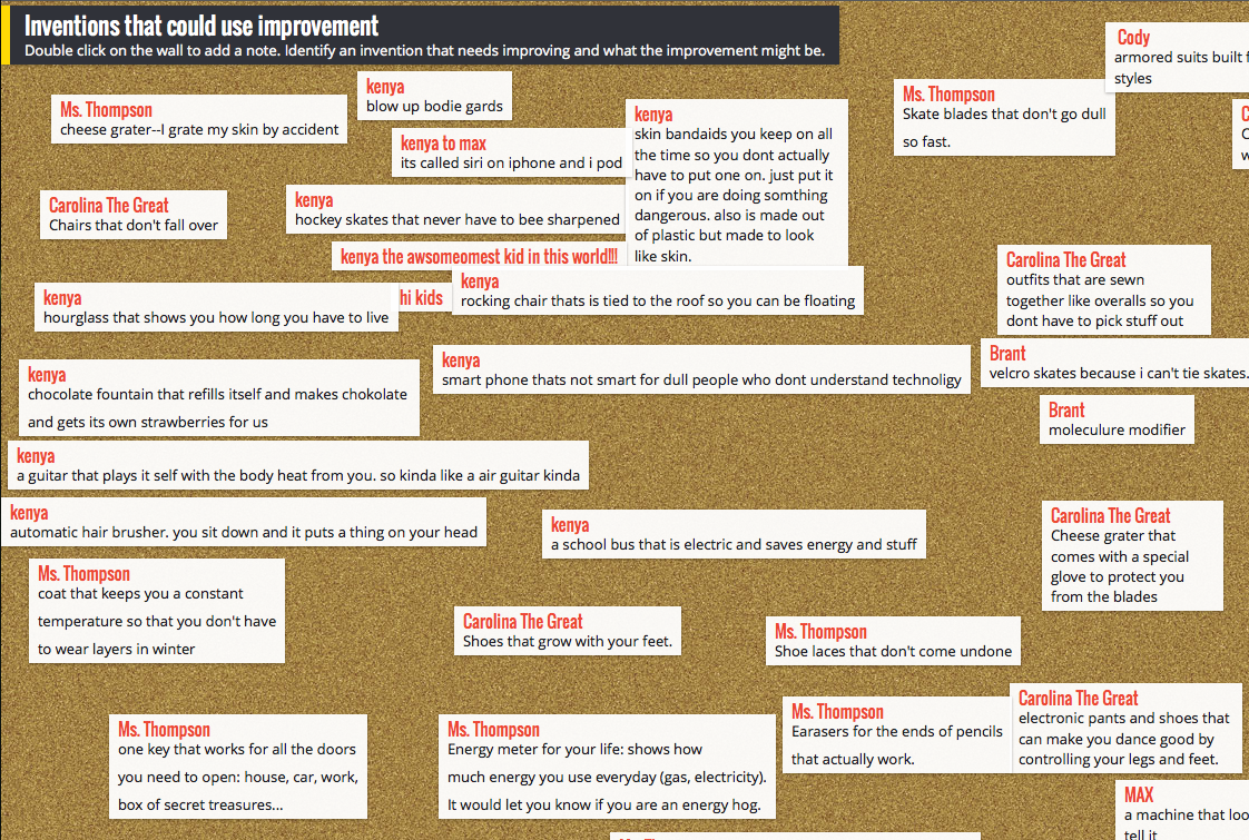 Padlet Examples