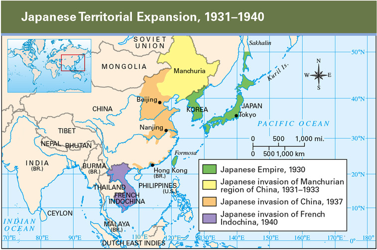 Imperialism On Emaze - Japan map 1930