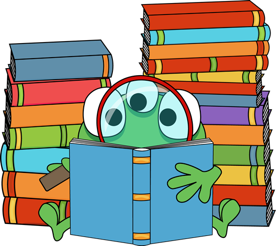Image result for free clipart monster reading