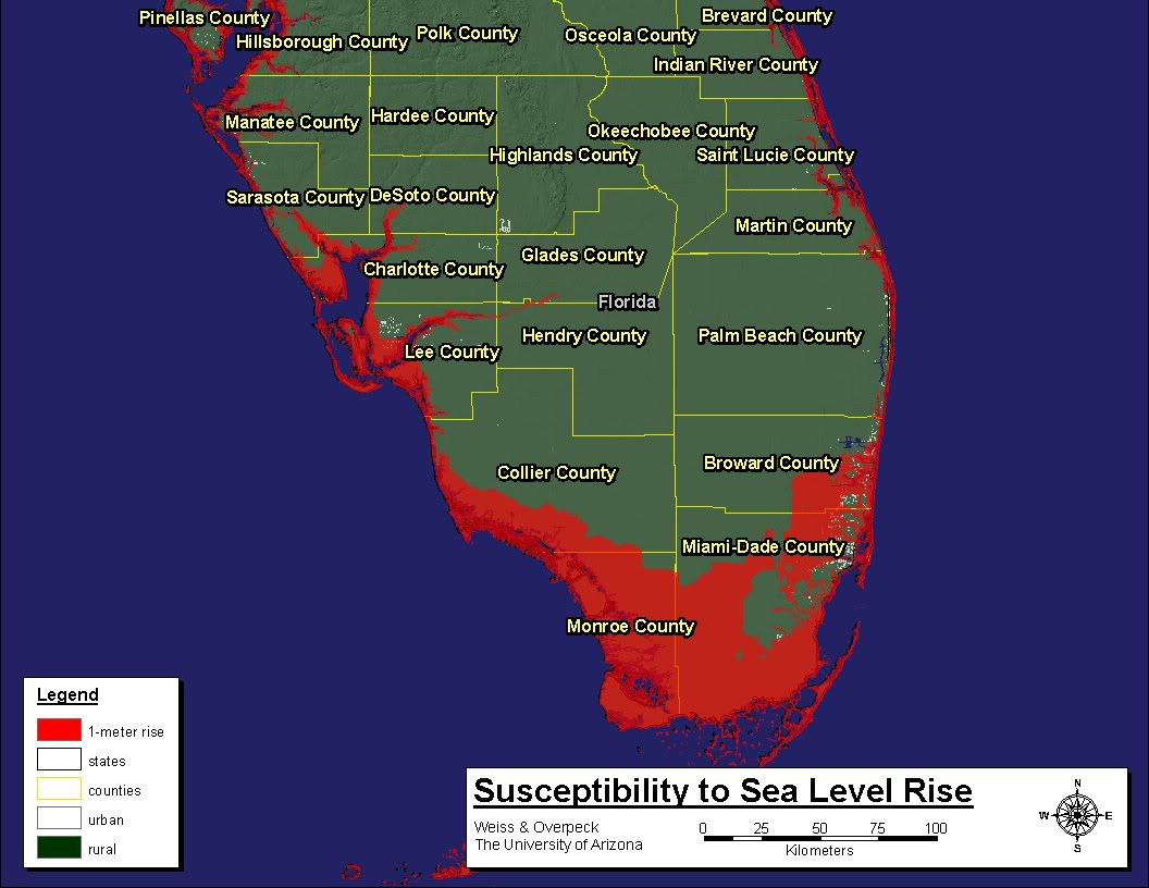 Sea Level Rise South Florida Map Verkuilenschaaij
