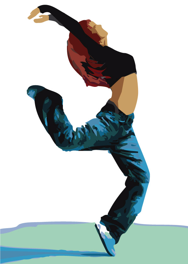 Excepcional Bailarín De Hip Hop Para Colorear Regalo - Dibujos Para ...