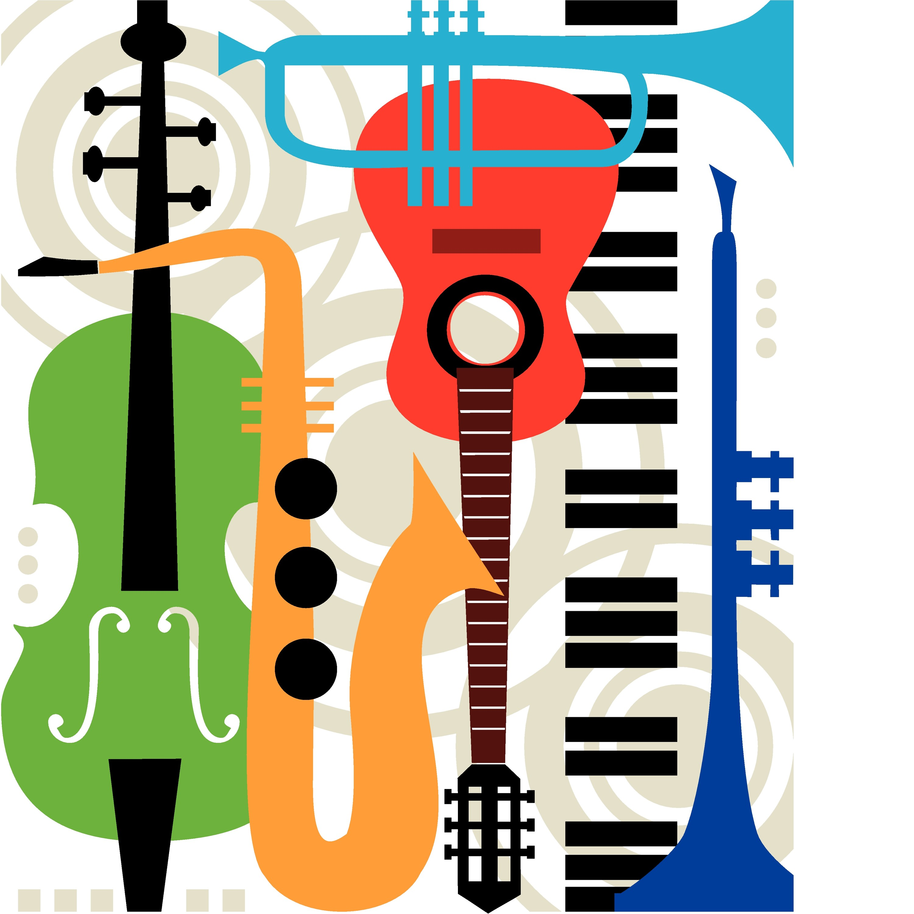 colorful instruments