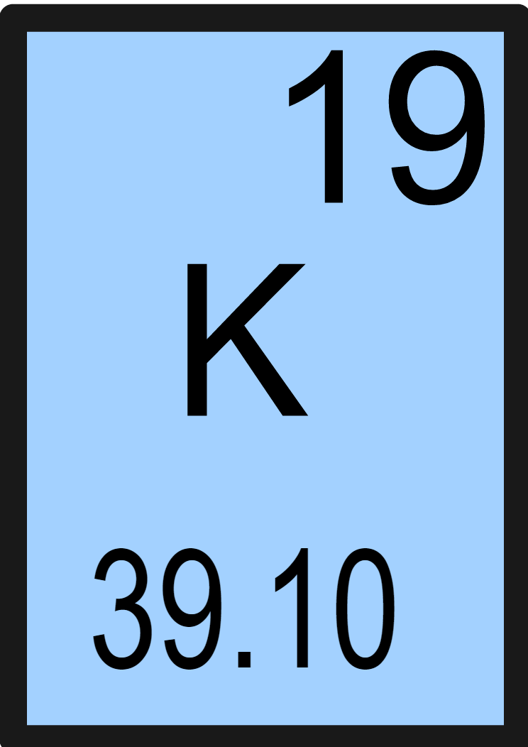 Potassium Is A Metal In The Alkali Family 1 With Atomic Number 19 Symbol For K