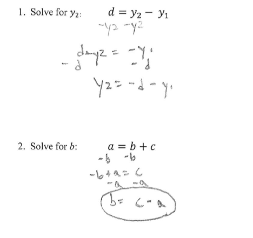how to solve simultaneous equations with 2 variables